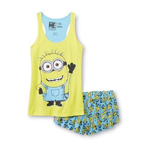 Pajamas Minion illumination entertainment s pajama tank top shorts minion