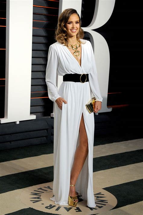 Vanity Fair Oscars by Alba Casual White Chiffon Sleeve Evening