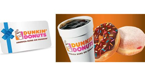Where To Buy Dunkin Donuts Gift Cards - hot 5 for 10 dunkin donuts egift card