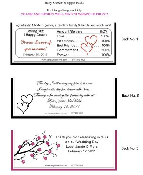 wedding candy bar wrappers personalized wedding candy
