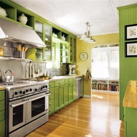 kitchens with green cabinets small kitchen designs in yellow and green colors