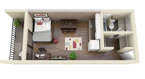 1 bedroom plano apartments planos de apartamentos peque 241 os de un dormitorio dise 241 os
