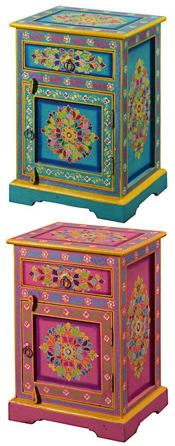 hand painted indian cabinets handpainted indian bedside http www pinterest