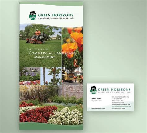 brochure layout landscape lansdcaping maintenance company website evolution design