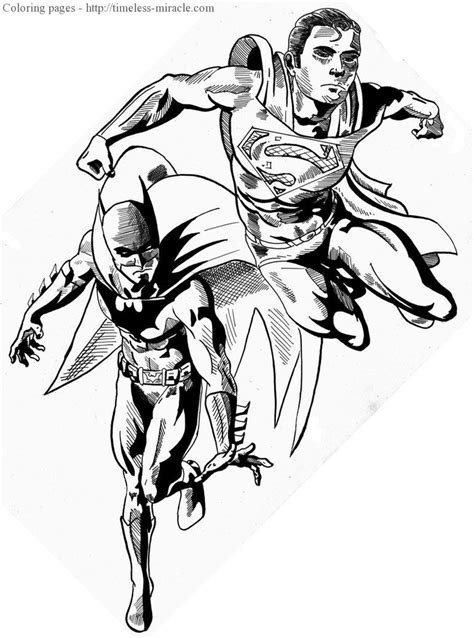 batman and superman coloring coloring pages