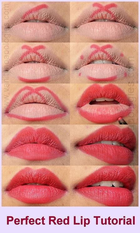 video tutorial lipstik ombre perfect red lips tutorial step by step makeup