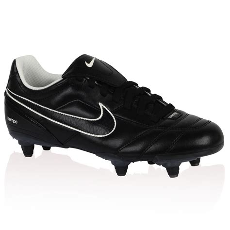 nike mens tiempo natural ii sg black football boots trainers size  uk ebay