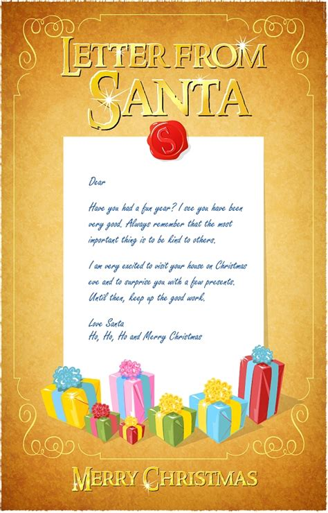 free letter from santa template free newsletters templates new calendar