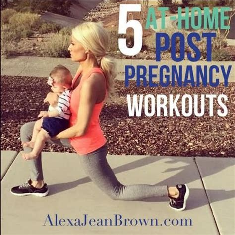 5 at home post pregnancy workouts jean no