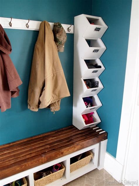 mudroom ideas diy mudroom cubbies storage for hats mittens sawdust and