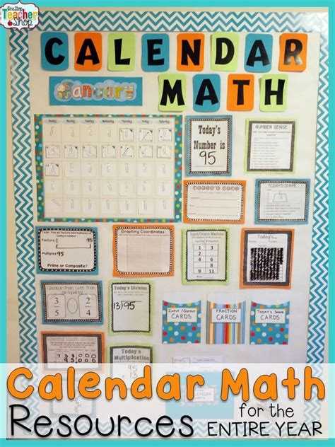 Calendar Board For Calendar Math Bundle For Daily Math Review Activities