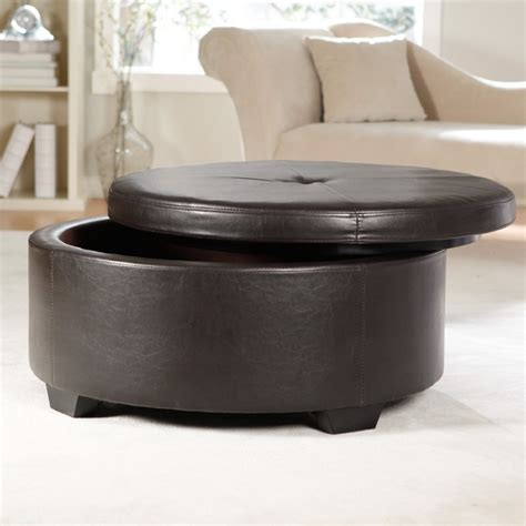 black round storage ottoman cool black ottoman coffee designs decofurnish