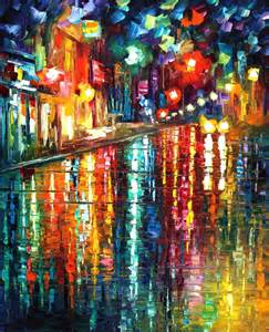 the colors of paris palette knife oil painting on canvas
