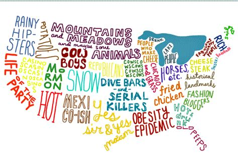 usa map jokes us map of stereotypes weknowmemes