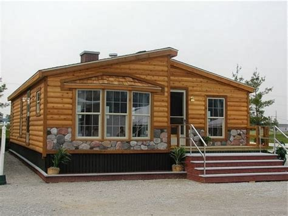 mobile homes    log cabins