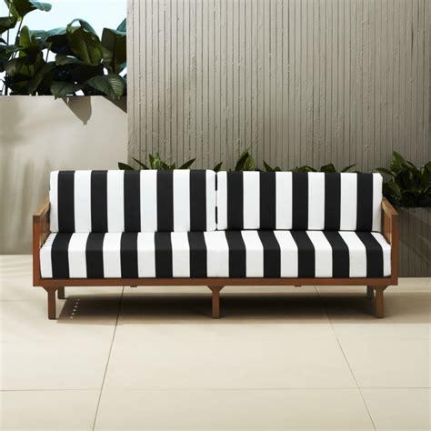 black and white sofa tropez black and white stripe sofa cb2