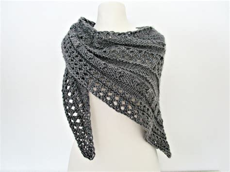 knitted shawl gray knitted shawls knit shawl wool knitted wrap