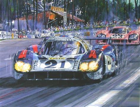 porsche 917 art porsche racing art memorabilia freck s auto art