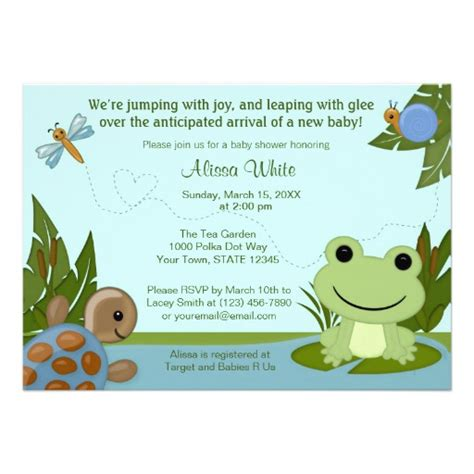Frog Baby Shower by Ranita Para Baby Shower Imagui