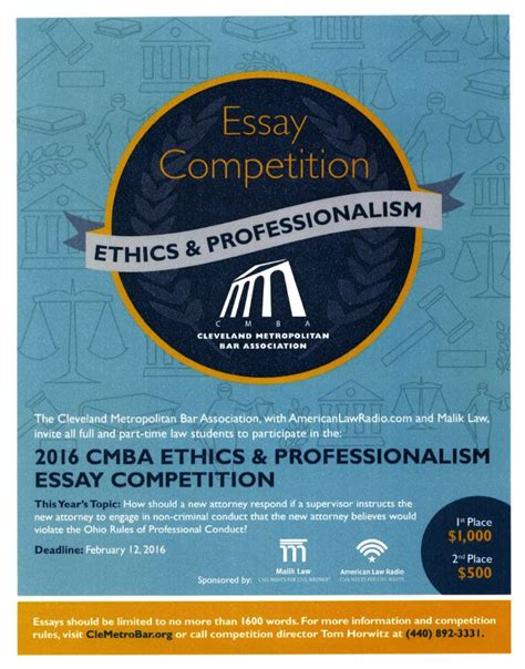 Essay Writing Competition 2015 by Cleveland Met Bar Assn Essay Competition Akron Announcements