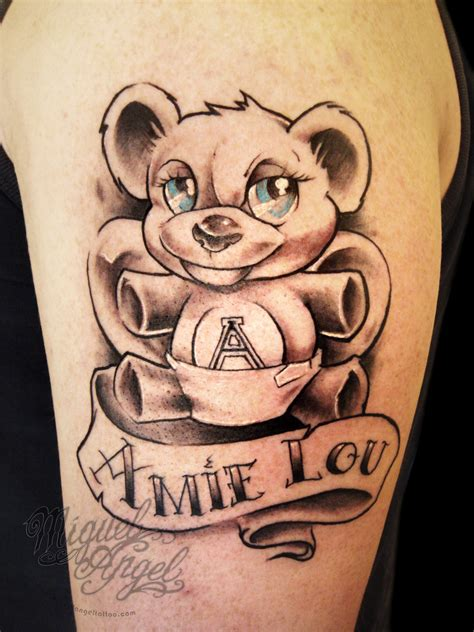 teddy bear tattoos designs teddy with name design boogs miguel