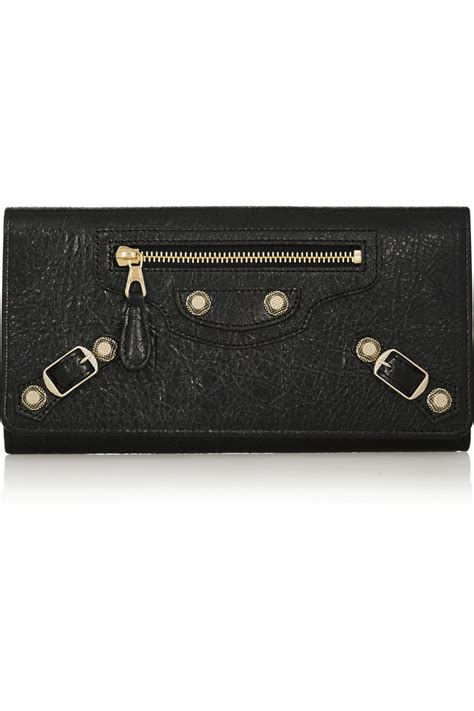 Studded Wallet balenciaga money studded textured leather wallet in
