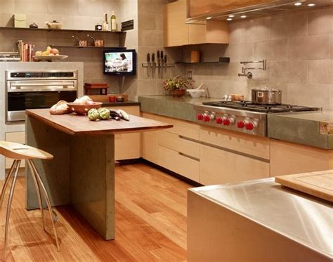 concrete countertops and kitchen island sf high rise