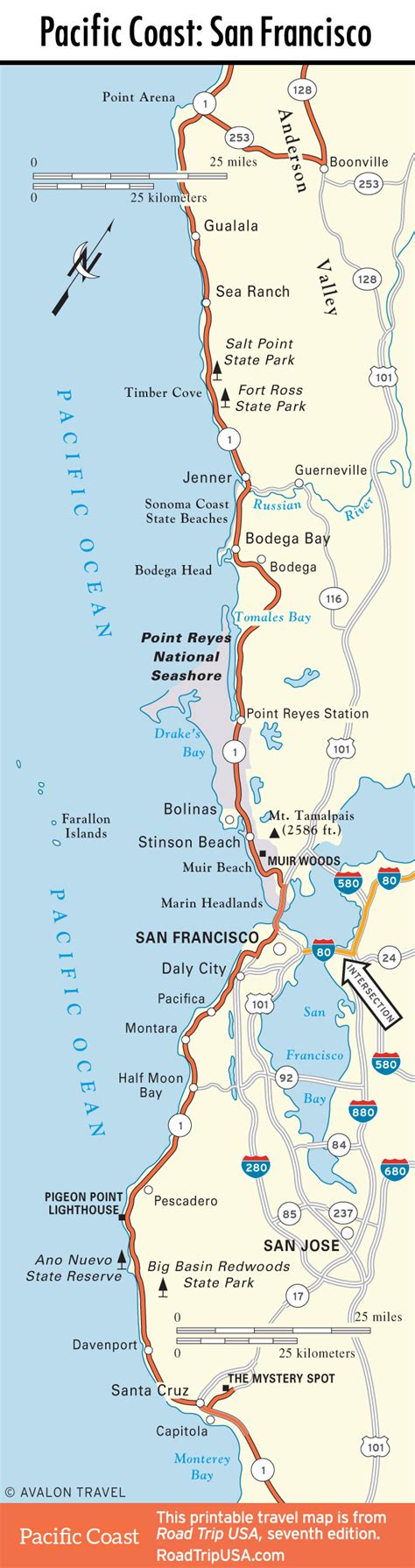 road map of pacific coast usa pacific coast highway road trip usa
