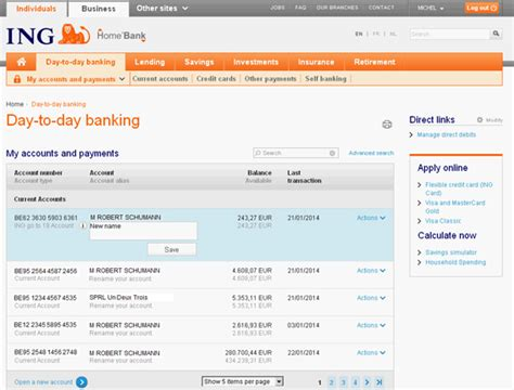 ing bank homebank image gallery ing accounts