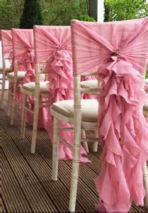 ruffled chair covers ruffle chair sash wedding