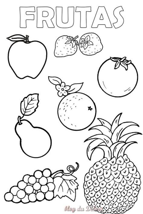 frutas para colorear en ingles imagui dibujos frutas y verduras para imprimir imagui