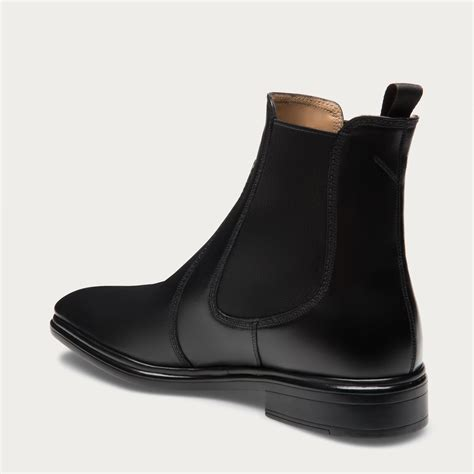 dress boots for bally dress leather ankle boots in black for lyst