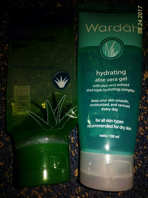 review aloe vera gel 50k wardah aloe vera gel vs