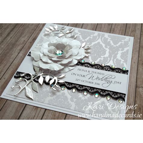 Wedding Cards Handmade Designs - beautiful wedding card handmade by kari designs www