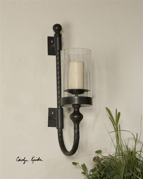 Iron Candle Wall Sconce Wall Sconce Ideas Suprising Colonial Iron Wall Candle Sconce Glass Metal Material Curve