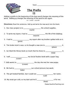 prefix worksheets have fun teaching