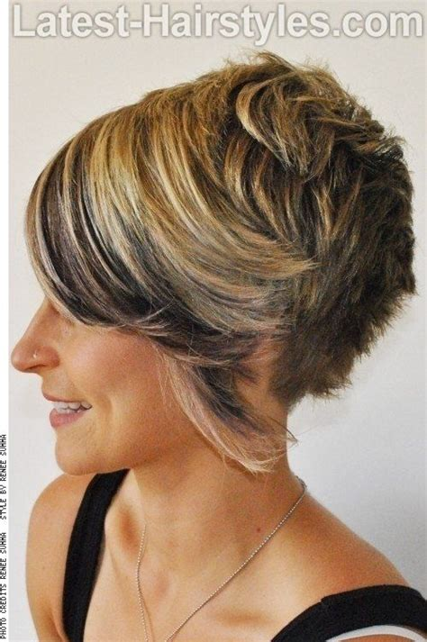 square face asymmetrical pixie bob asymmetric pixie for square face side hairstyles