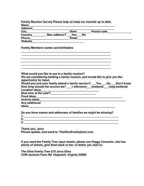 free family reunion letter templates family reunion program templates ideas resume ideas