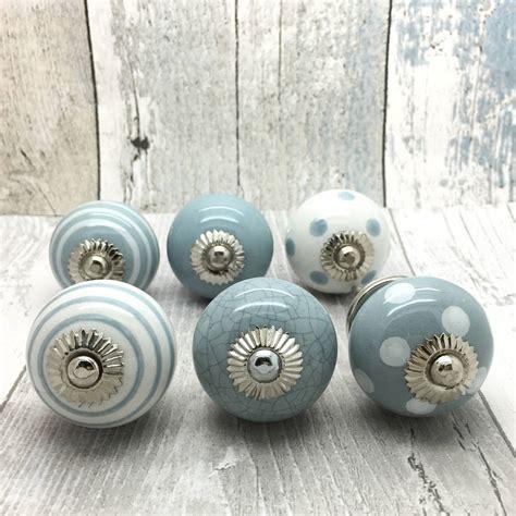 Ceramic Door Handle grey ceramic door knobs cupboard drawer pull handles by g