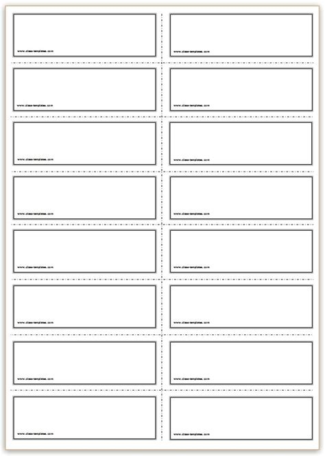 free printable cards template free printable flash cards template