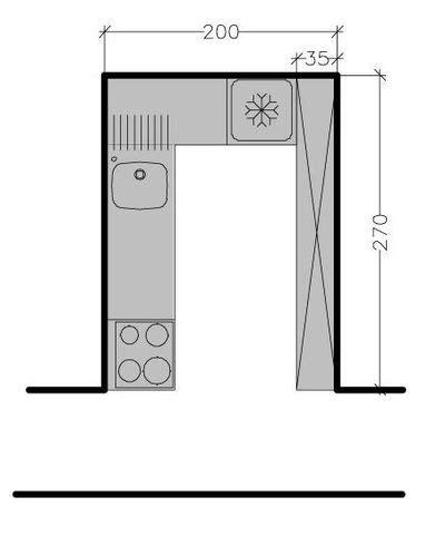 Délicieux Amenager Petite Cuisine Ouverte #9: 267497_8-plans-de-cuisine-avec-disposition-des-meubles-en-l.jpg