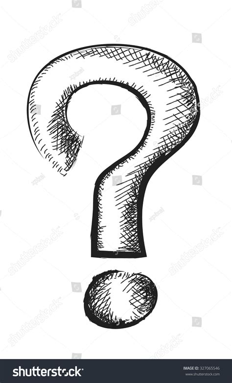 doodle poll question marks doodle question vector illustration stock vector