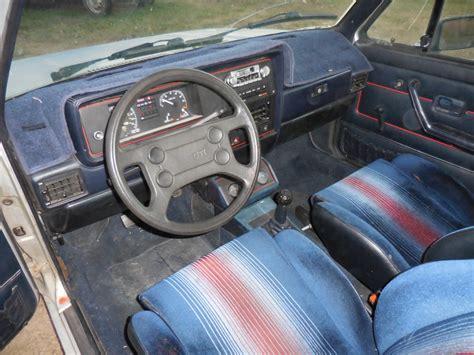 volkswagen rabbit interior no reserve 1983 vw gti bring a trailer