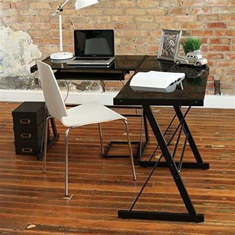 walker edison soreno 3 piece corner desk walker edison soreno 3 piece corner desk black with black