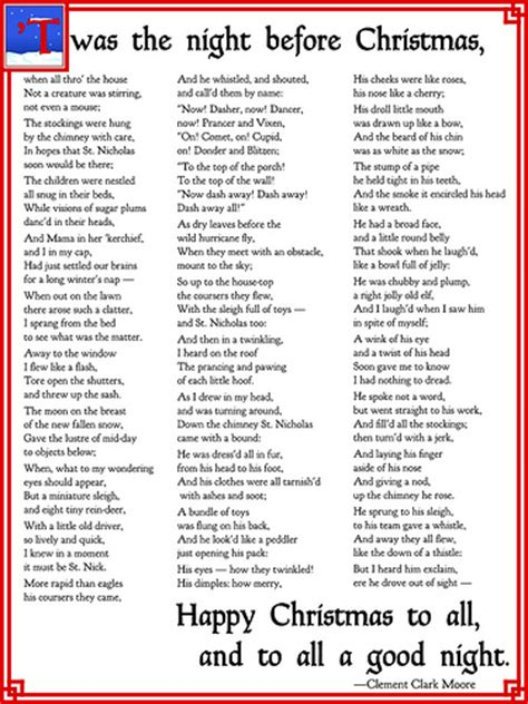 printable version of night before christmas twas the night before fill in the blank thunder