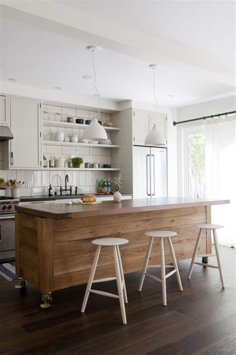 Kitchen Island With Open Shelves Fascinating Big Kitchen Island On Casters With Modern