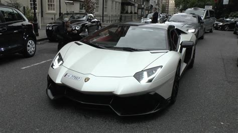 lamborghini aventador 50th anniversary roadster arab lamborghini lp720 4 50th anniversary aventador roadster in london youtube