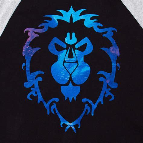 kaos raglan gamer warcraft horde logo wow alliance logo raglan exclusive thinkgeek