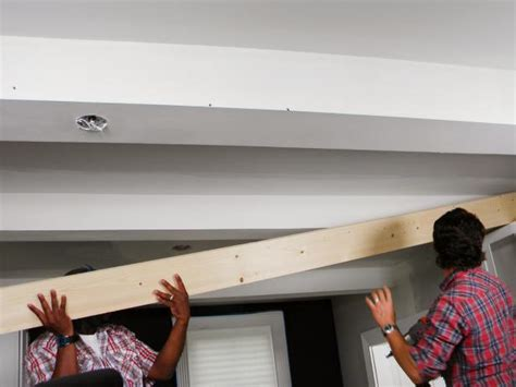 Ceiling Girder by How To Wrap A Ceiling Girder With Wood How Tos Diy