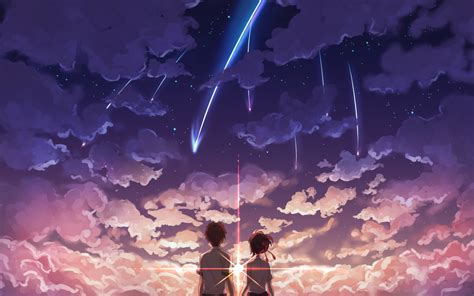 wallpaper anime kimi no na wa anime your name mitsuha miyamizu taki tachibana kimi no